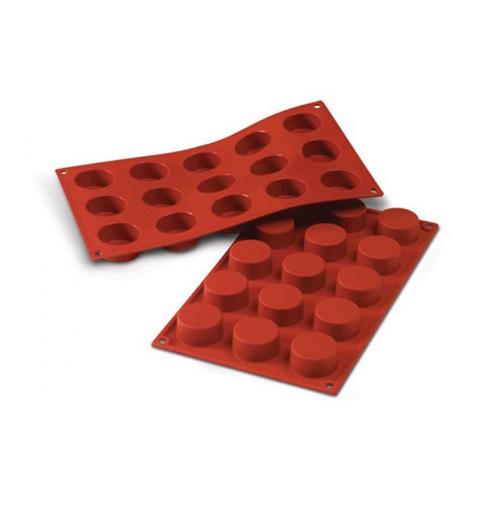 Forma din silicon pentru 15 prajituri Petit-Fours cu diametrul de 40mm