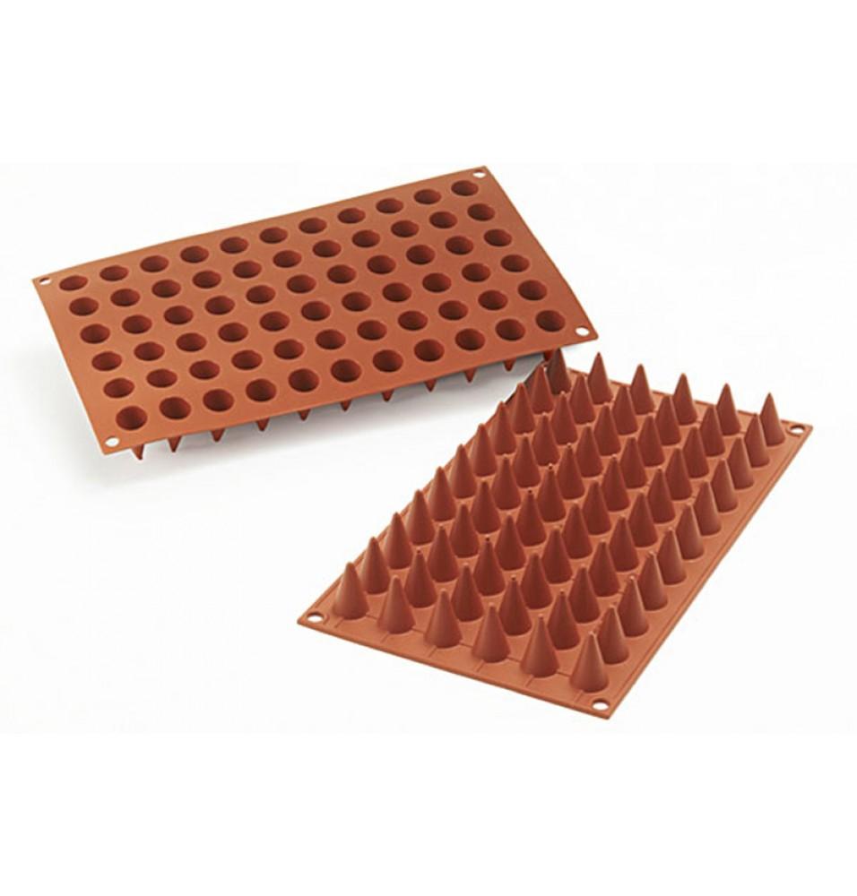 Forma din silicon pentru 66 de prajituri conice cu diametrul de 18mm