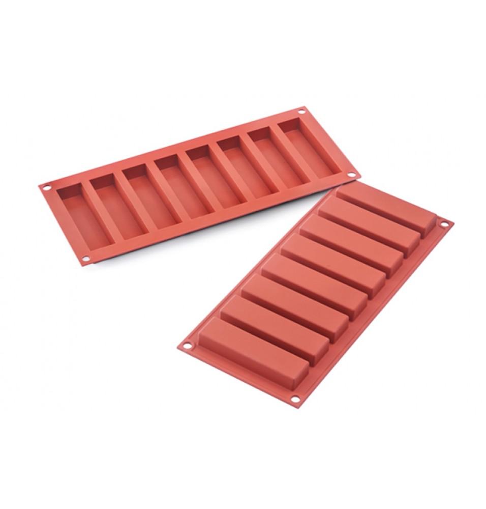 Forma din silicon pentru 8 prajituri Slim Bars cu dimensiunile de 100x26mm