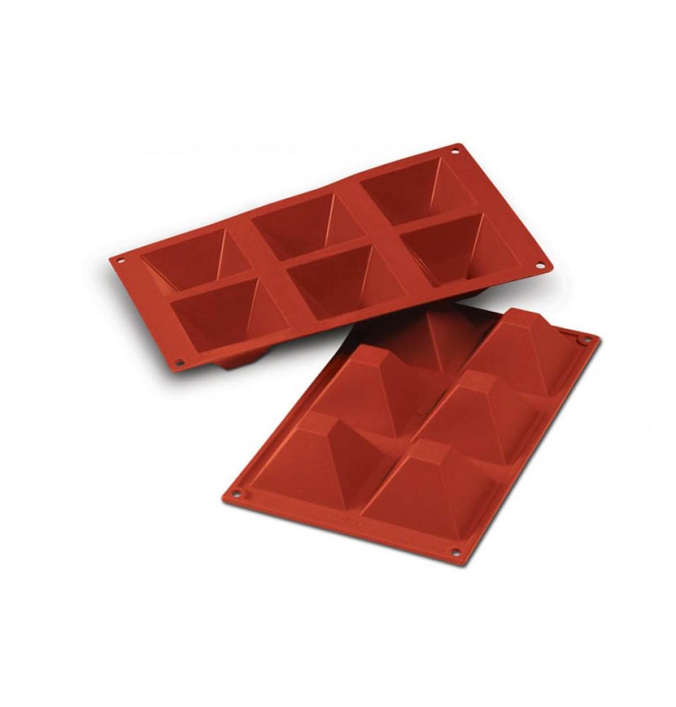 Forma din silicon pentru 6 piramide cu inaltimea de 40mm