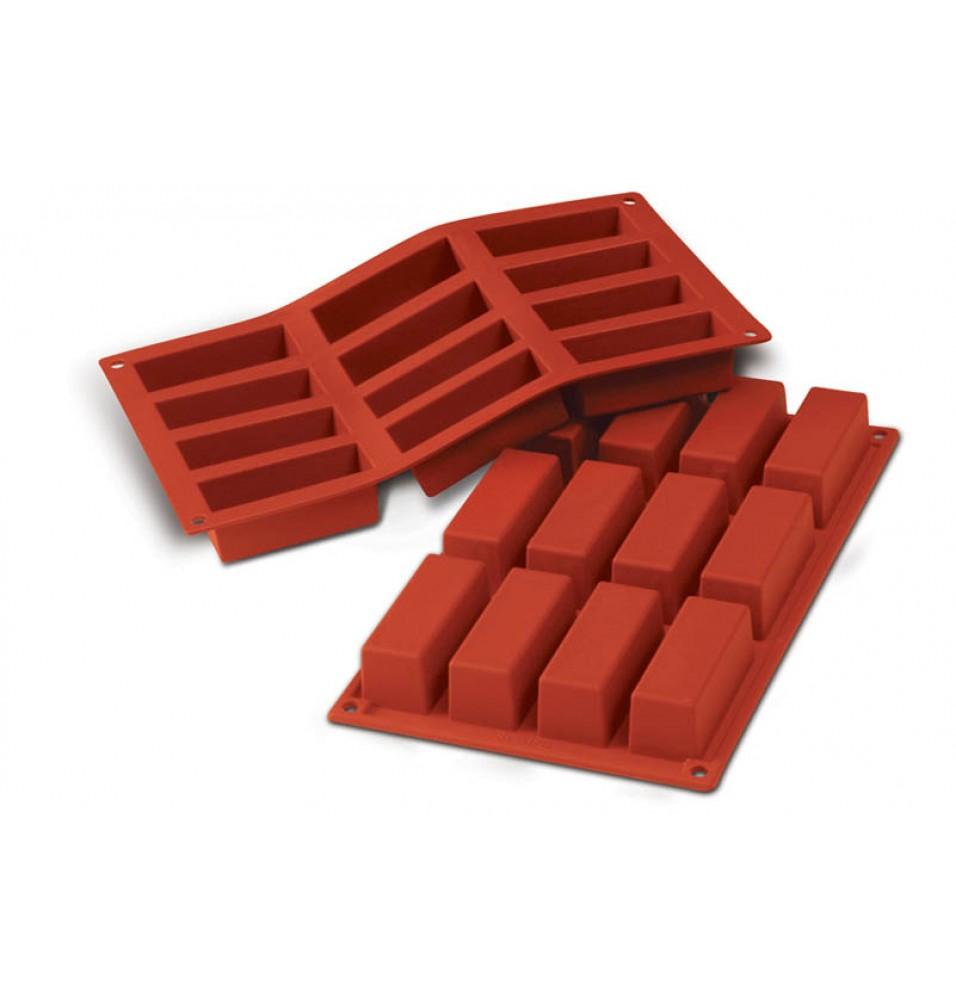 Forma din silicon pentru 12 prajituri cu dimensiunile de 79x29mm