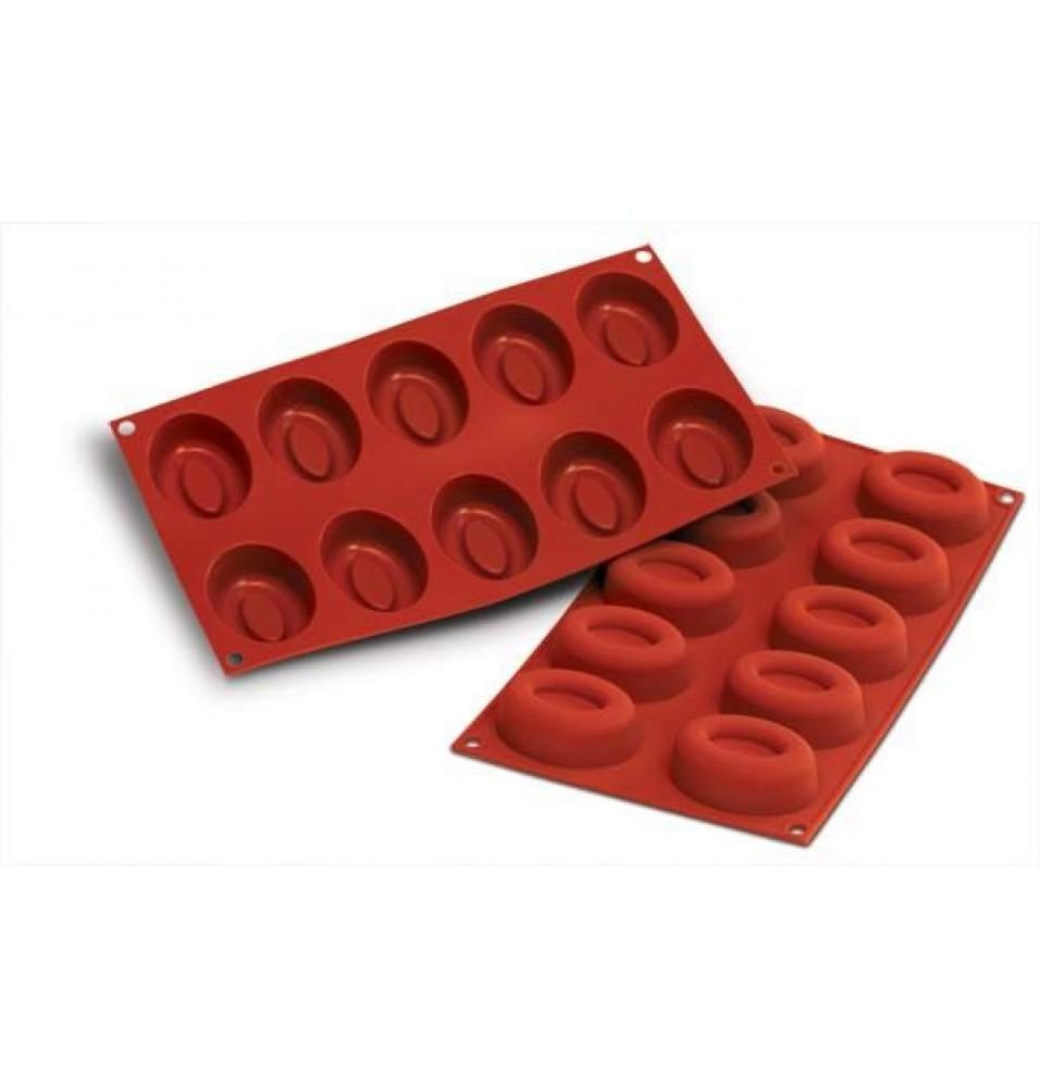 Forma din silicon pentru 10 forme ovale