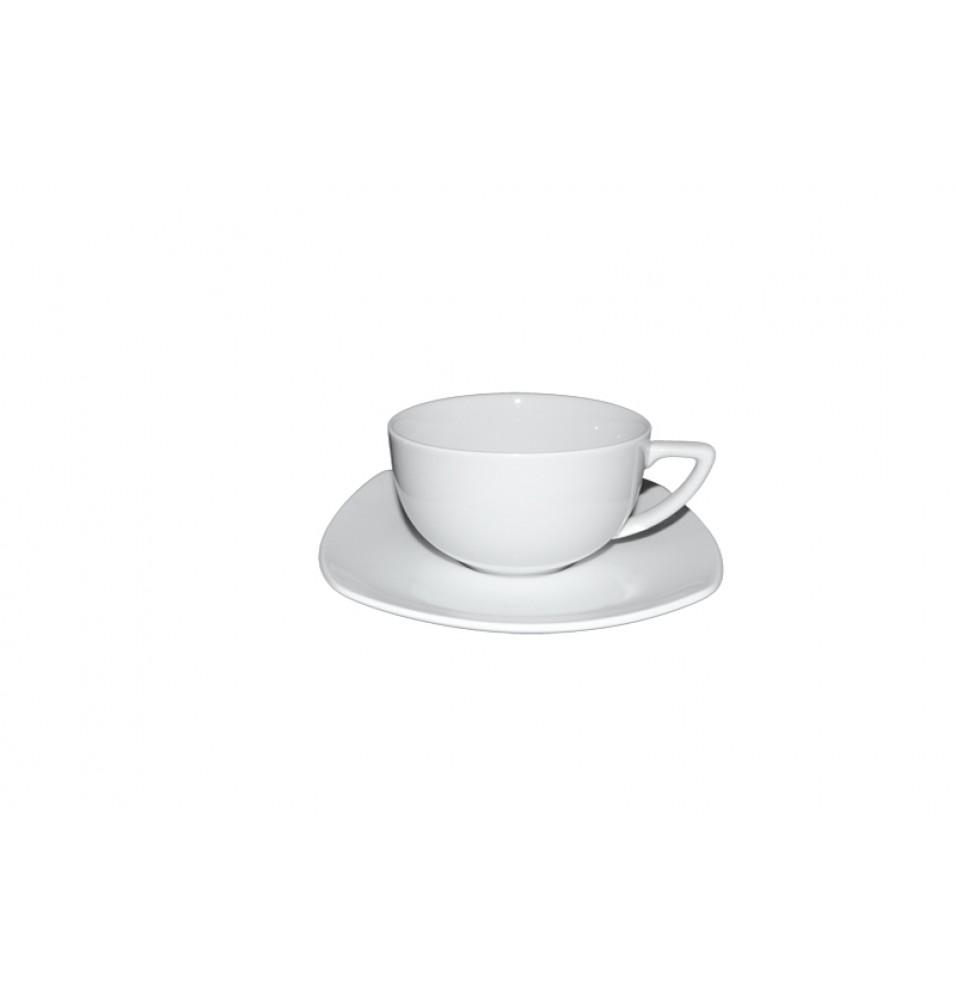 Ceasca cafea si farfurie patrata