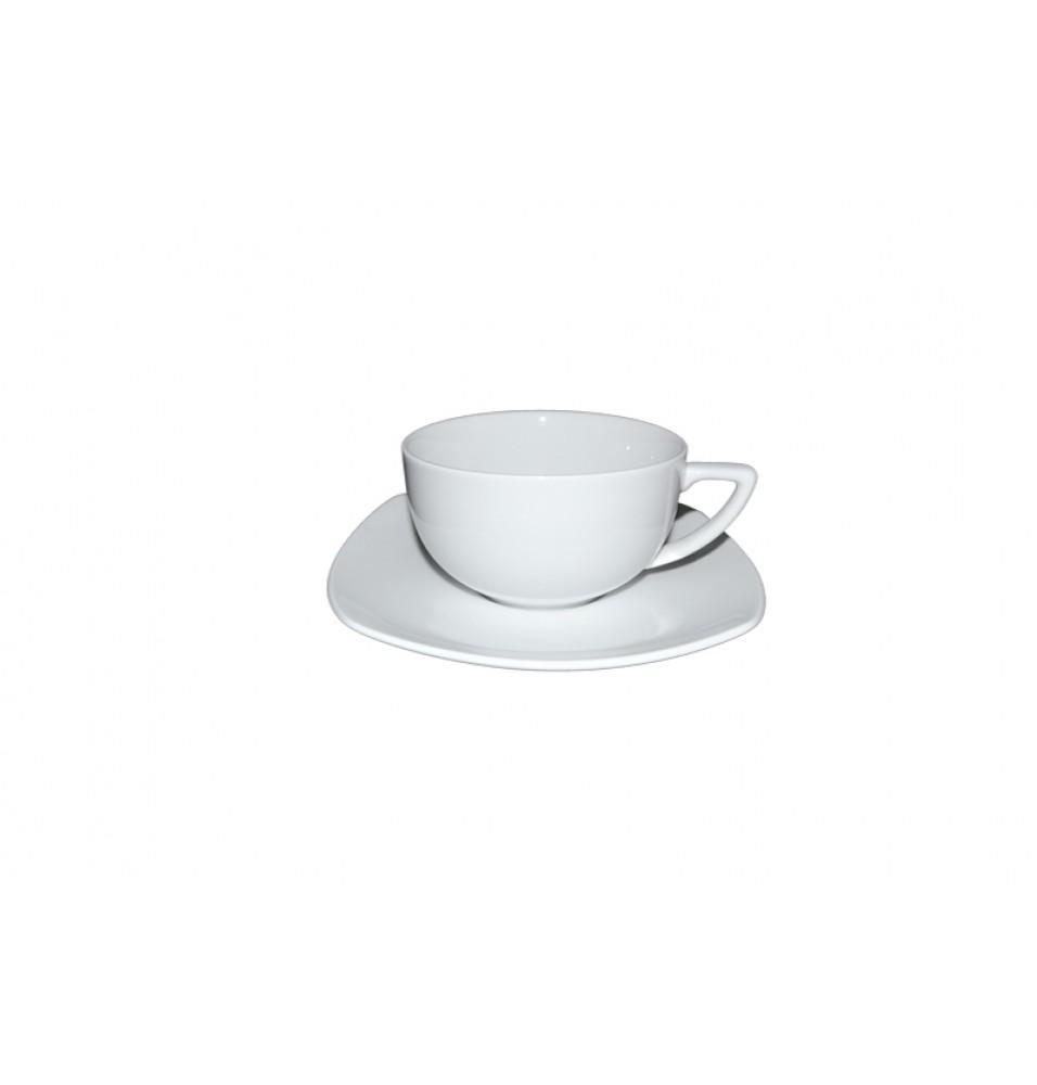 Ceasca ceai si farfurie patrata
