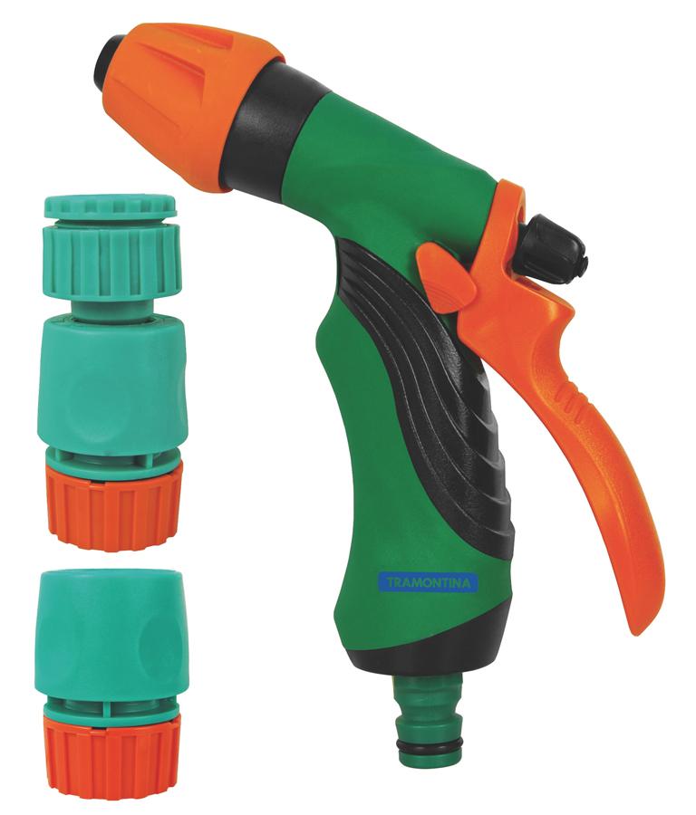 Set pentru irigare: pistol pentru stropit cu maner ergonomic tramontina 2021