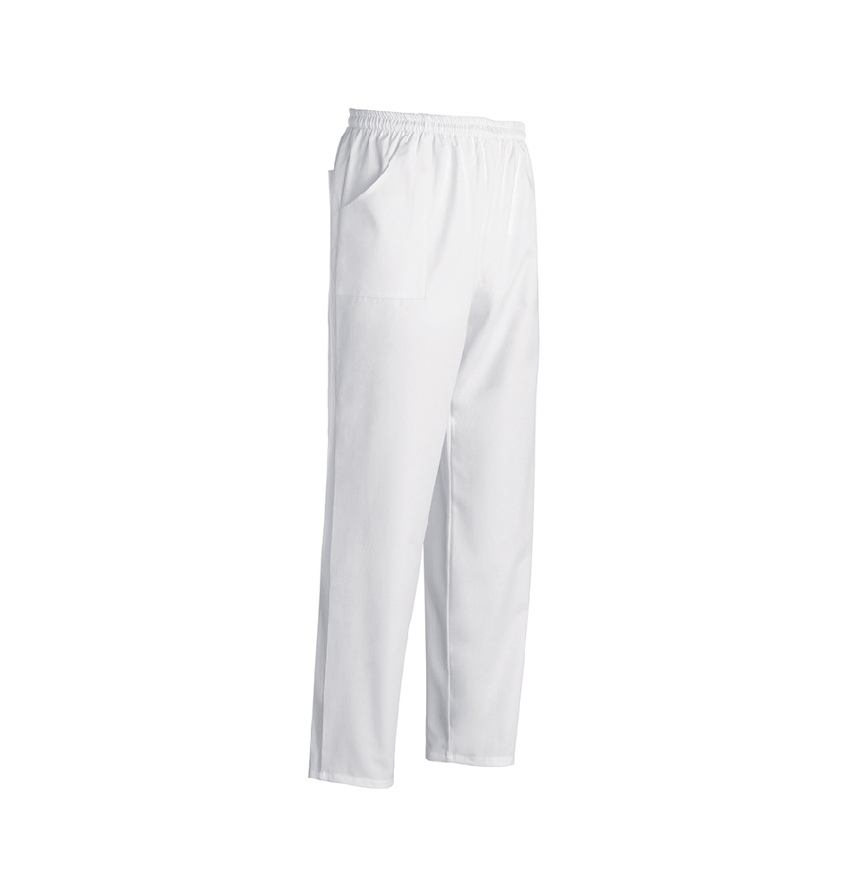 Pantalon bucatar -culoare alba
