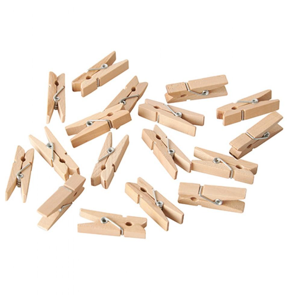 Set 100 mini-clesti din lemn
