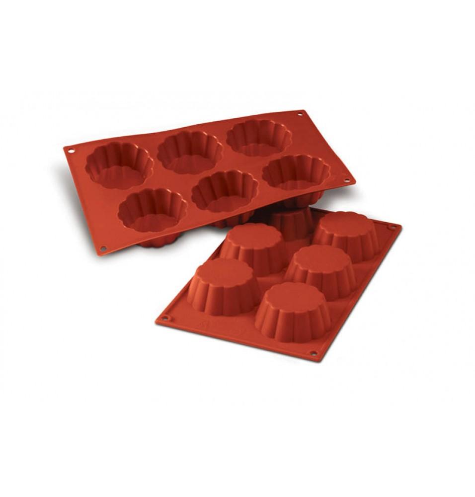 Forma din silicon pentru 6 prajituri Briochette cu inaltimea de 30mm