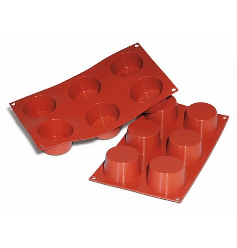 Forma din silicon pentru 6 forme rotunde