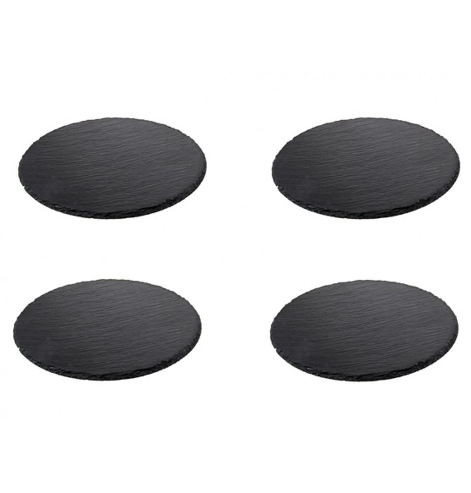 Set 4 piese piatra naturala diametru 100mm